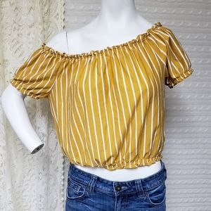 4/$25 💐 AEO | t-shirt | off shoulder | stripped